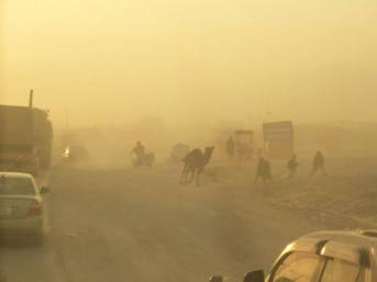 Dust Storm causes Chaos...