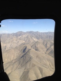 Helicopter view of the Mountains