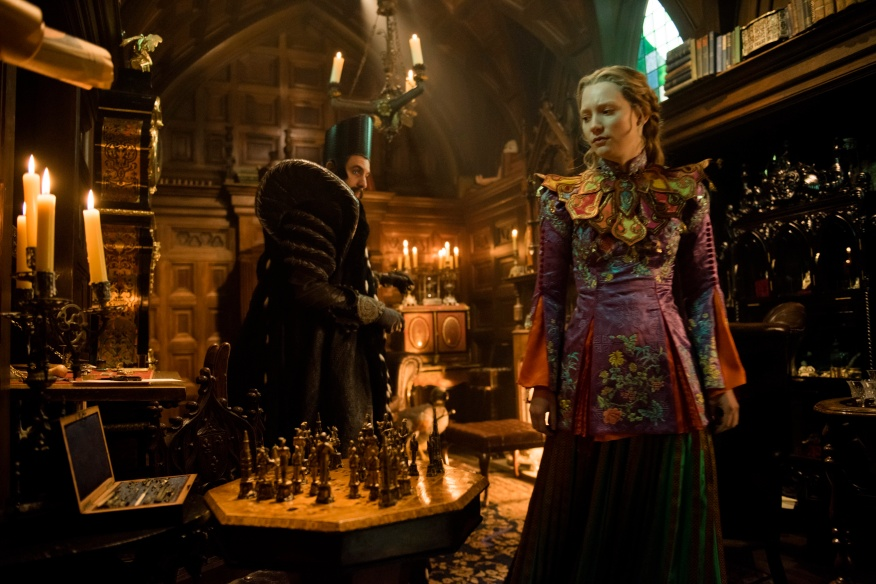 Alice (Mia Wasikowska) returns to the whimsical world of Underland and meets Time (Sacha Baron Cohen) in Disney's ALICE THROUGH THE LOOKING GLASS, an all new adventure featuring the unforgettable characters from Lewis Carroll's beloved stories.